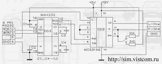 Адаптер K-L-Line схема на
